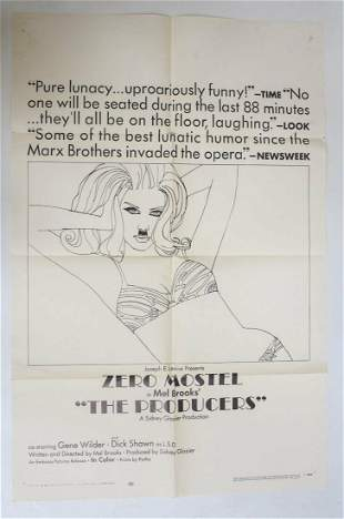 Genuine Theatrical Movie Poster 'The Producers' (1968)