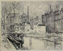 Joseph Pennell (American 1857-1926) Lithograph