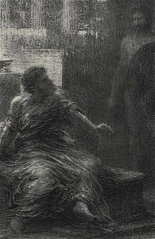 Henri Fantin Latour (French 1836-1904) Lithograph
