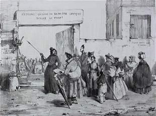 Benjamin Roubaud (French 1811-1847) Lithograph Petit