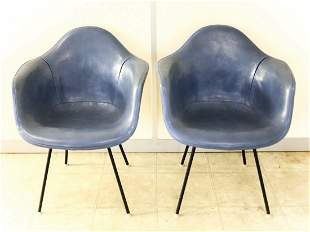 Pair Mid Century Modern Eames Era Herman Miller