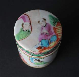 Chinese Famille Rose Small Covered Porcelain Box