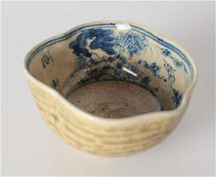 Chinese Blue and White Porcelain Bowl / Wine Cup