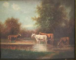 Pastoral Scene Oil Painting by Tom Morgan c1892