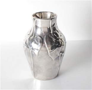 Tiffany & Co Louis Comfort Sterling Silver Vase