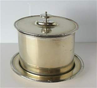 Boardman, Glossop & Co. Silverplate Biscuit Box Late