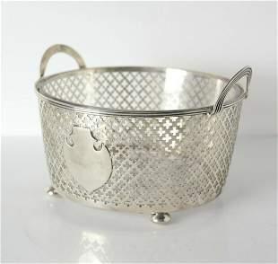 Simon Nordlinger & Sons Sterling Silver Bowl w/ glass