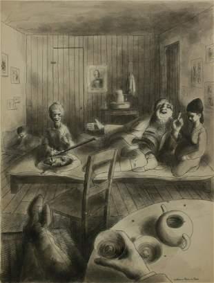 William Pene du Bois (1916-1993)  Pen and ink wash