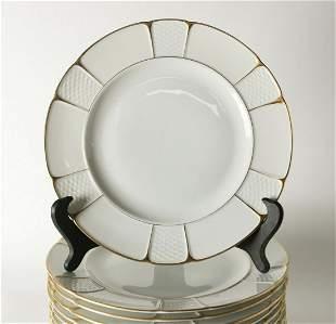 12pc Rosenthal Bavaria Barrock Dinner Plates, c1920.