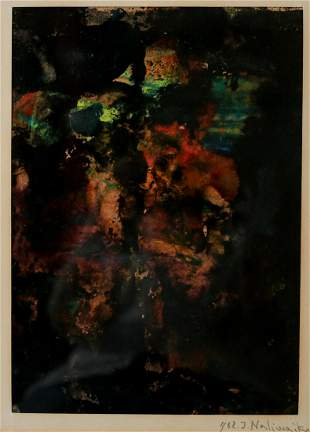 Jan Naliwajko (Lithuanian 1938-) Mixed media painting