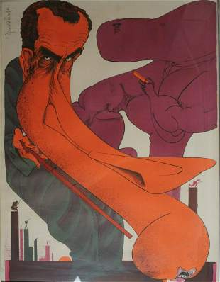 Gerald Scarfe (English 1936-) Lithograph on paper,