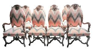 8 Rococo Revival Dining Chairs