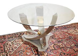 Modernist Chrome Table by Greg Sheres