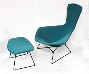 Knoll Bertoia Bird High Back Chair and Ottoman