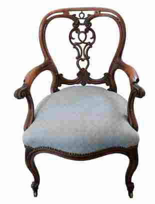 Ribbon Back Arm Chair