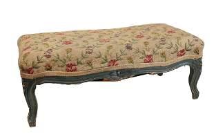 Long rectangular upholstered Footstool