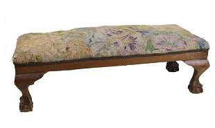 Chippendale style Long rectangular upholstered