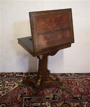 Pedestal Writing Table adjustable easel back