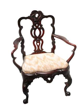 19th Century Ribbon back Arm Chair