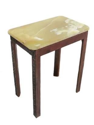 Alabaster Rectangular top Occasional table
