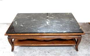 Large Marble Top Coffee Table
