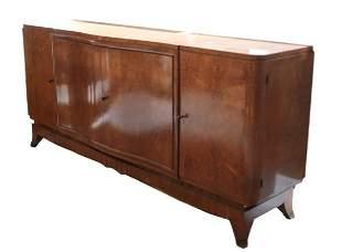Art Deco Burl maple sideboard credenza