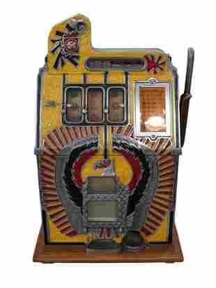 1935 Mills War Eagle. Nickle Slot Machine