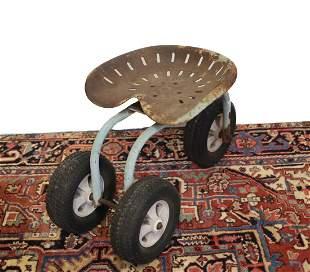 Rolling gardening stool