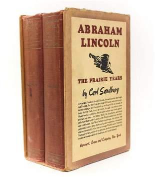 Carl Sandburg Abraham Lincoln The Prairie Years Vol 1&