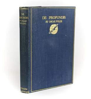 Wilde, Oscar 'De Profundis'. Methuen & Co., London,