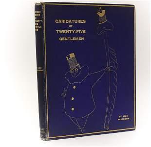 Max Beerbohm 'Caricatures Twenty-Five Gentleman'