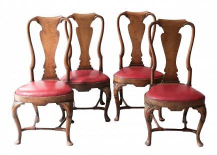 Set of Four Splat back Side Chair