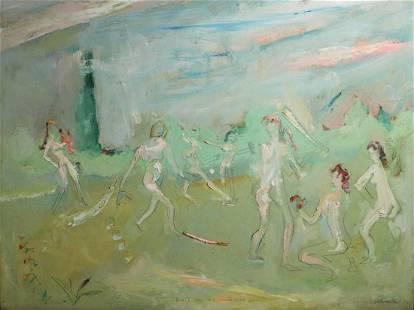 Sterling Strauser (American 1907 - 1995) Oil painting