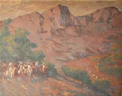 Marco Zim Zimmerman 1880 - 1963 Western Oil painting