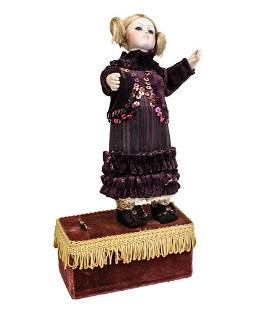 19th Century Wind Up Automaton Doll, Continental, moves