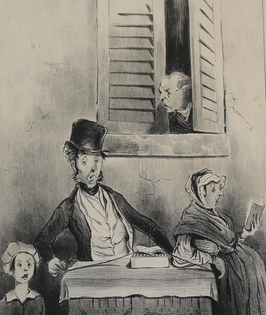 Daumier, Honore Lithograph Adieu!...Adieu!.. 1841