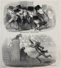 Daumier, Honore Lithograph Physionomif de l'assemblee