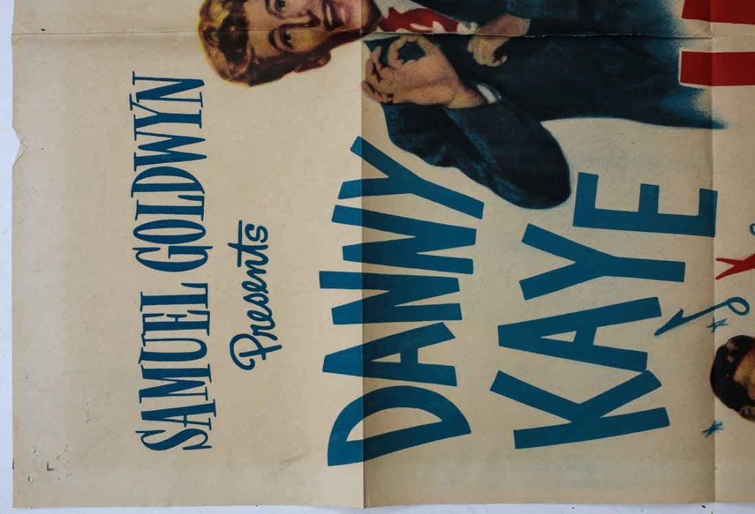 Movie Poster 'Up in Arms' Folded 1 Sheet Danny Kaye - 2