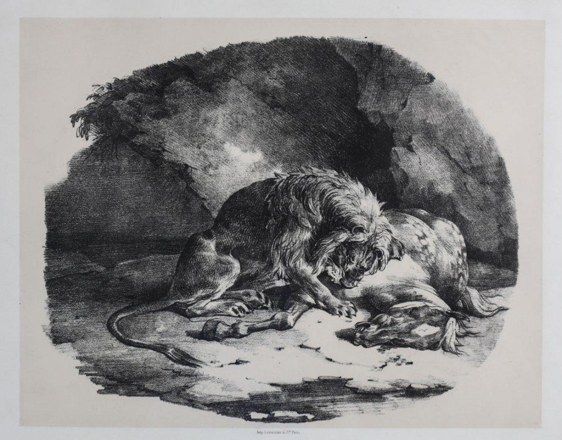 Gericault, Theodore Lithograph Etudes de Chevaux 1823