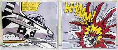 Litchenstein, Roy Lithograph WHAM! 1963 Dyptich