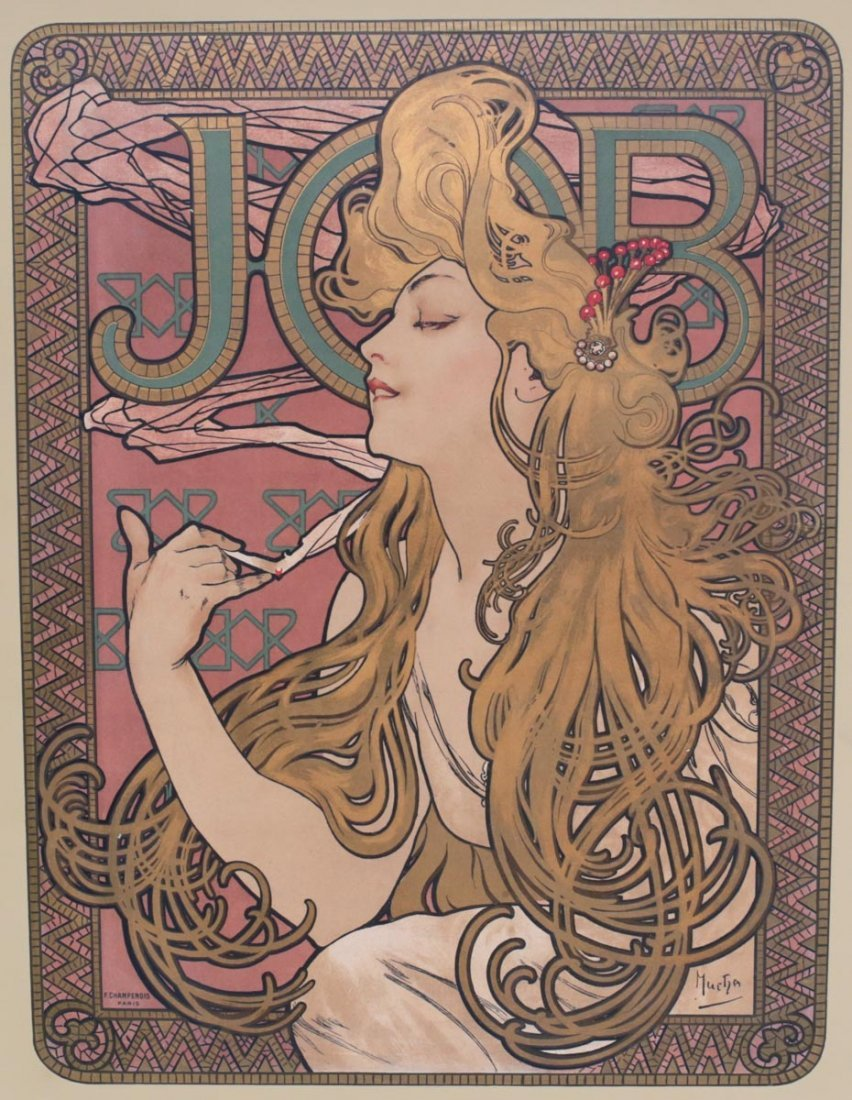 Mucha, Alphonse JOB Cigarette Poster 1896