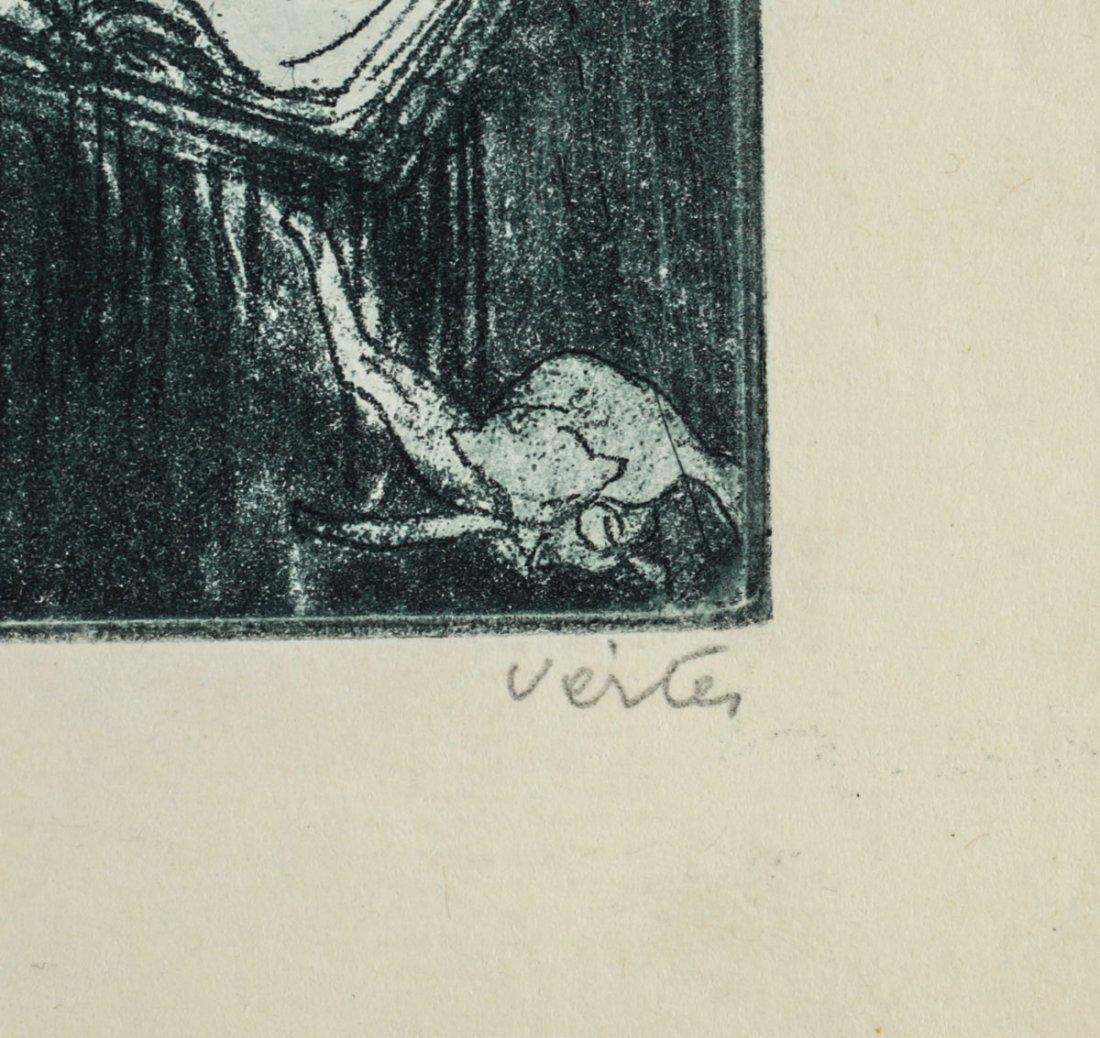 Vertes, Marcel Erotic Etching, No. 1 Temptation signed - 3