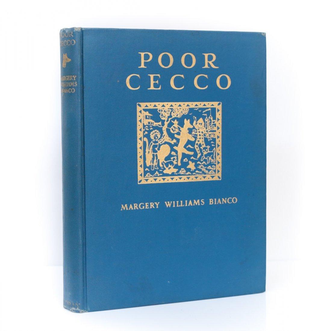 Bianco, Margery; Rackham Arthur Poor Cecco 1st Ed 1925