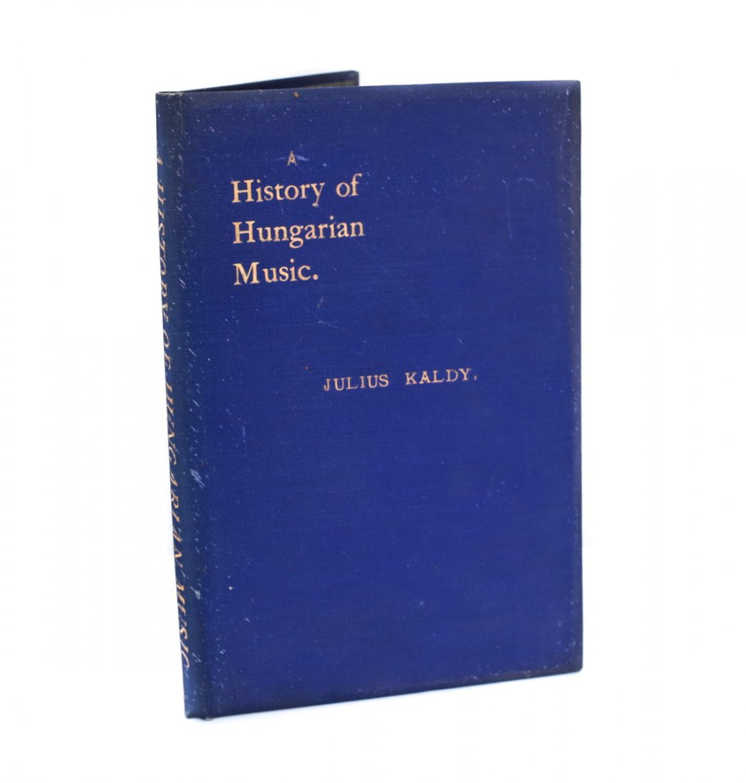 Kaldy, Julius A History of Hungarian Music 1902
