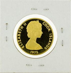 1975 Cook Islands $100 Gold Proof Coin