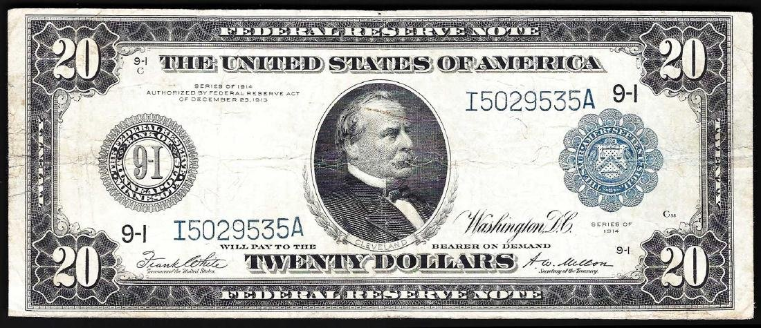 1914 $20 Large Size Federal Reserve Note