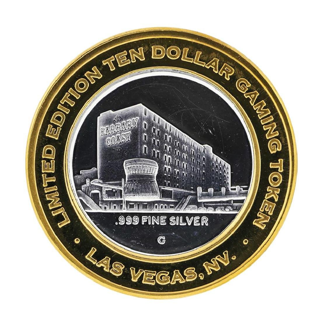 .999 Silver Barbary Coast Las Vegas, Nevada $10 Casino