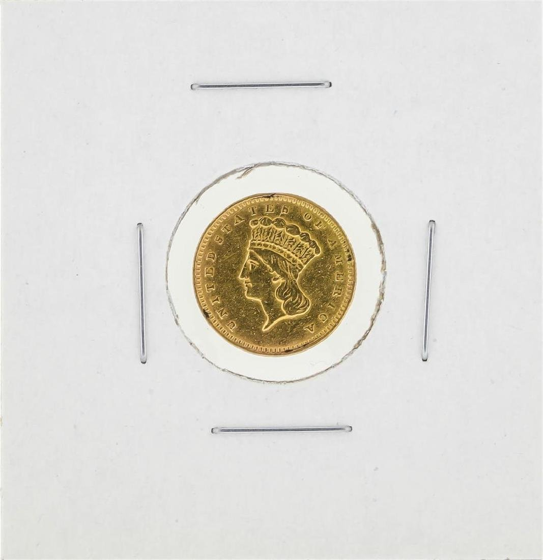 1857 $1 Indian Princess Head Gold Dollar Coin Type 3