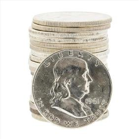 Roll of (20) 1961-D Brilliant Uncirculated Franklin