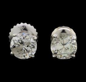 14KT White Gold 1.38ctw Diamond Earrings